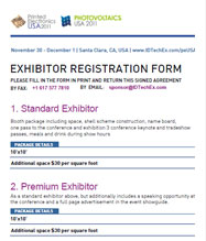 Exhibition Registration Form