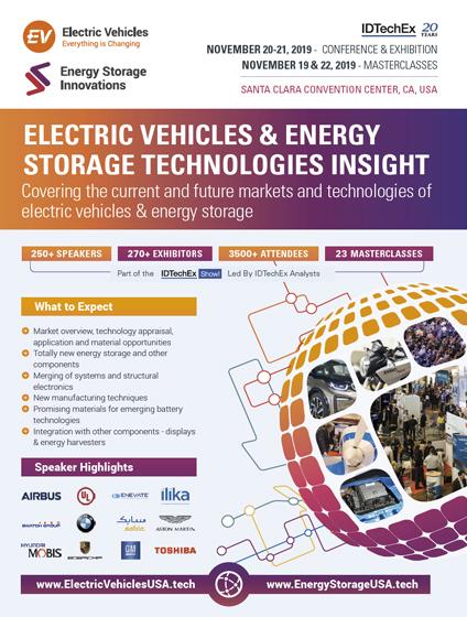 Energy Storage Innovations USA 2019 | 20 - 21 Nov | Santa Clara Convention  Center, CA, USA